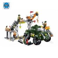 Hot Sale DIY Model City Military War Maintenance Plant Building Blocks Sets Bricks Kids Toys Compatible