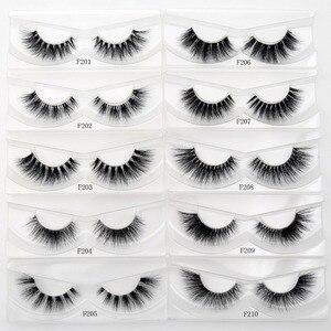Image 2 - Free DHL 50 pairs Visofree Eyelashes Transparent Band Mink Lashes Handmade Invisible Band Mink Fake Eyelashes Wholesale 17 style