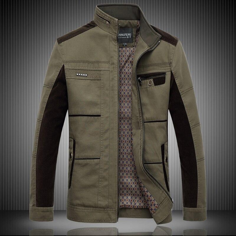 2017 men's boutique autumn winter season man high-grade pure cotton jacket/Male fashion color matching leisure coat/size XL-8XL