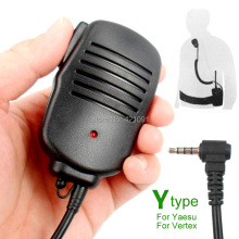 Y Type Handheld PTT Speaker Mic For YAESU VERTEX Radio Hand Microphone Hole for VX-3R VX-150 FT-50R FT 60 FT-60R Walkie Talkie