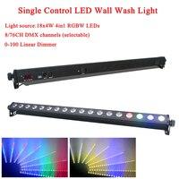 وحدة إضاءة LED جداريّة 18x4 واط RGBW 4in1 مرحلة إضاءة داخلية وخارجية مع حصان ركض نقطة تحكم DMX512 تأثير جيد DJ تجهيز-في تأثير إضاءة المسرح من مصابيح وإضاءات على