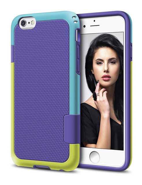 Luxury Hybrid 3 Color Soft TPU Silicone Shockproof Rugged Case for iPhone 7 6 6s 4.7″/ Plus Anti-slip Dual Protection Cover Case