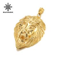 Enorme Lion King In Acciaio Inossidabile 316l Pendente D'argento/Oro Collana Con Catena Per Gli Uomini Fascino Hip Hop Moda Animale Gioielli in metallo