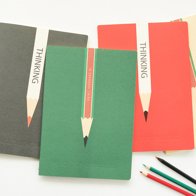 Creative Design To Cover Notebook : Korea stationery b fashion simple design notebook
