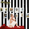 Papel De Parede 10M Roll Black And White Wide Stripe Wallpaper Simple Cross Vertical Striped Wall