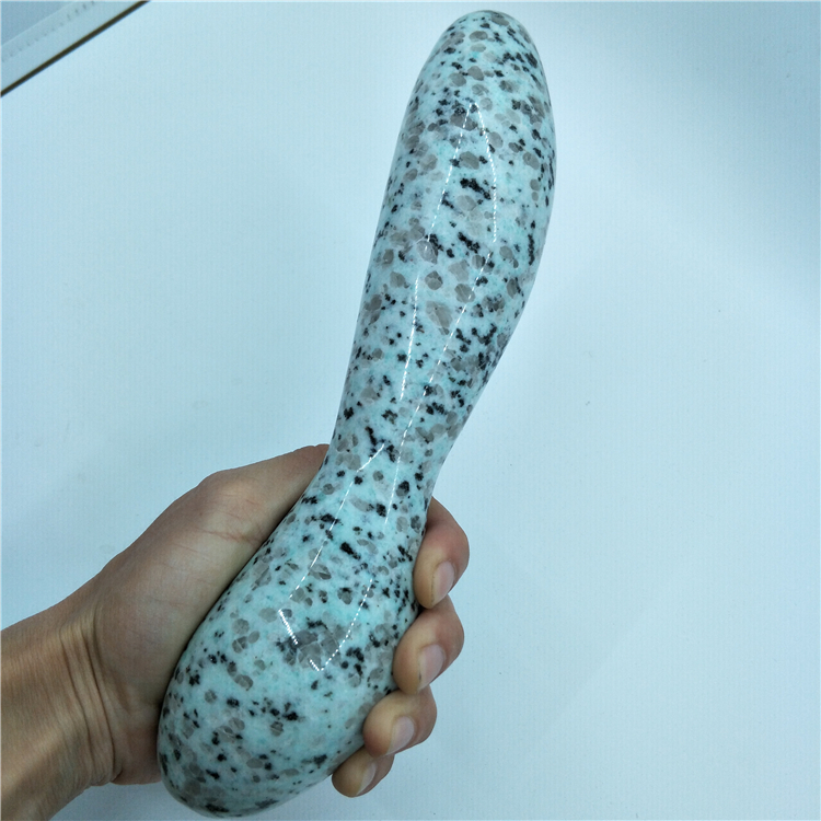 big size 24cm tianshan blue quartz crystal wand large long Natural seasame jasper massage wand yoni