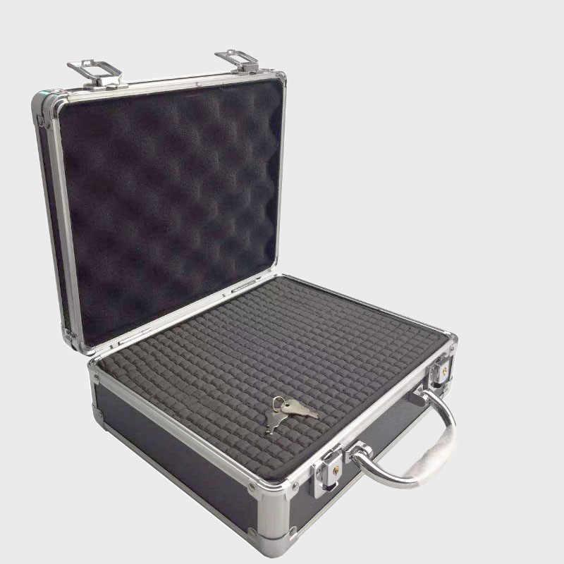 Portable Aluminium Alloy Kotak Alat Penyimpanan File Kotak Anti-Shock Peralatan Instrument Box dengan Kunci dengan Cut katun 260X220X100 M