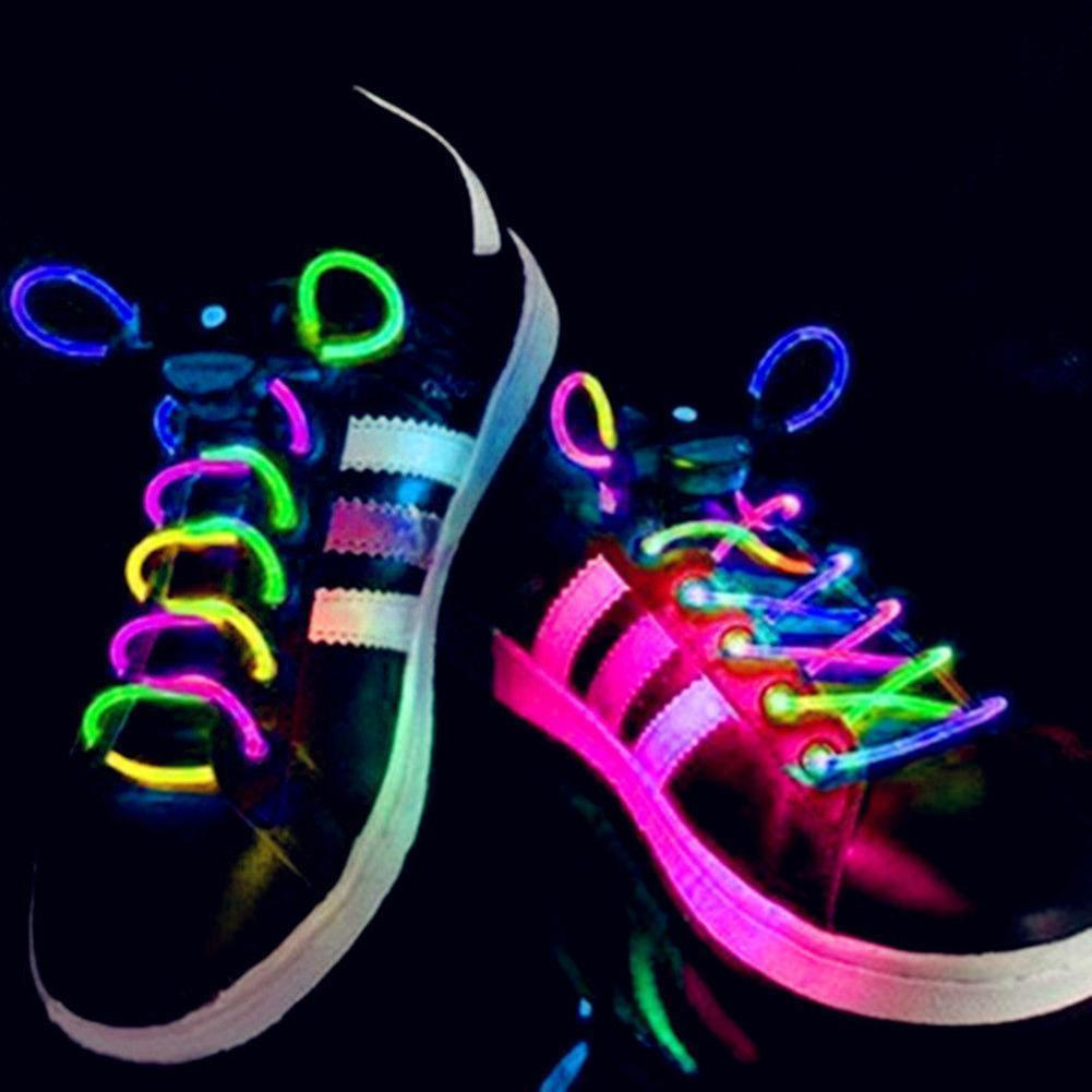 Hot LED Flash Luminous Light Up Glow Strap Shoelace Shoe Laces Party Disco Decor