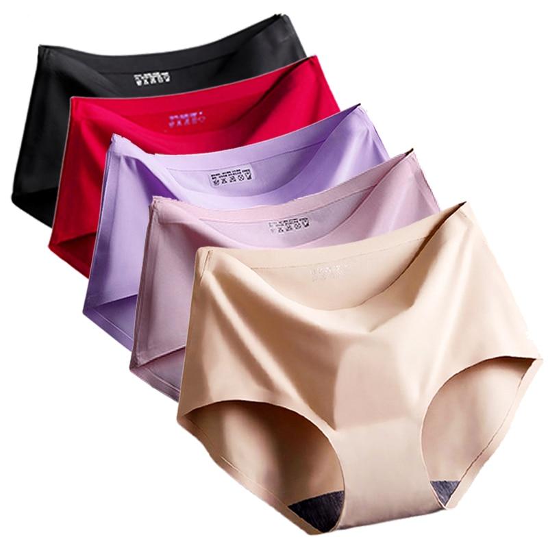 5 Piece Seamless Panties Women Underwear Ice Silk Seamless Panties Female Underwear -2777