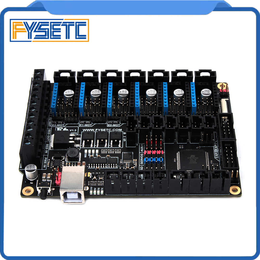 FYSETC F6 Board ALL-in-one Electronics For 3D Printer CNC Devices Up to 6 Motor Drivers With easy Micro-steps VS SKR V1.3