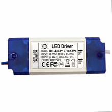 3cs 20W 30W 36W AC85-277V LED Driver 10-18x3W 600mA DC30-60V LEDPowerSupply Constant Current Ceiling Lamp Free Shippingt