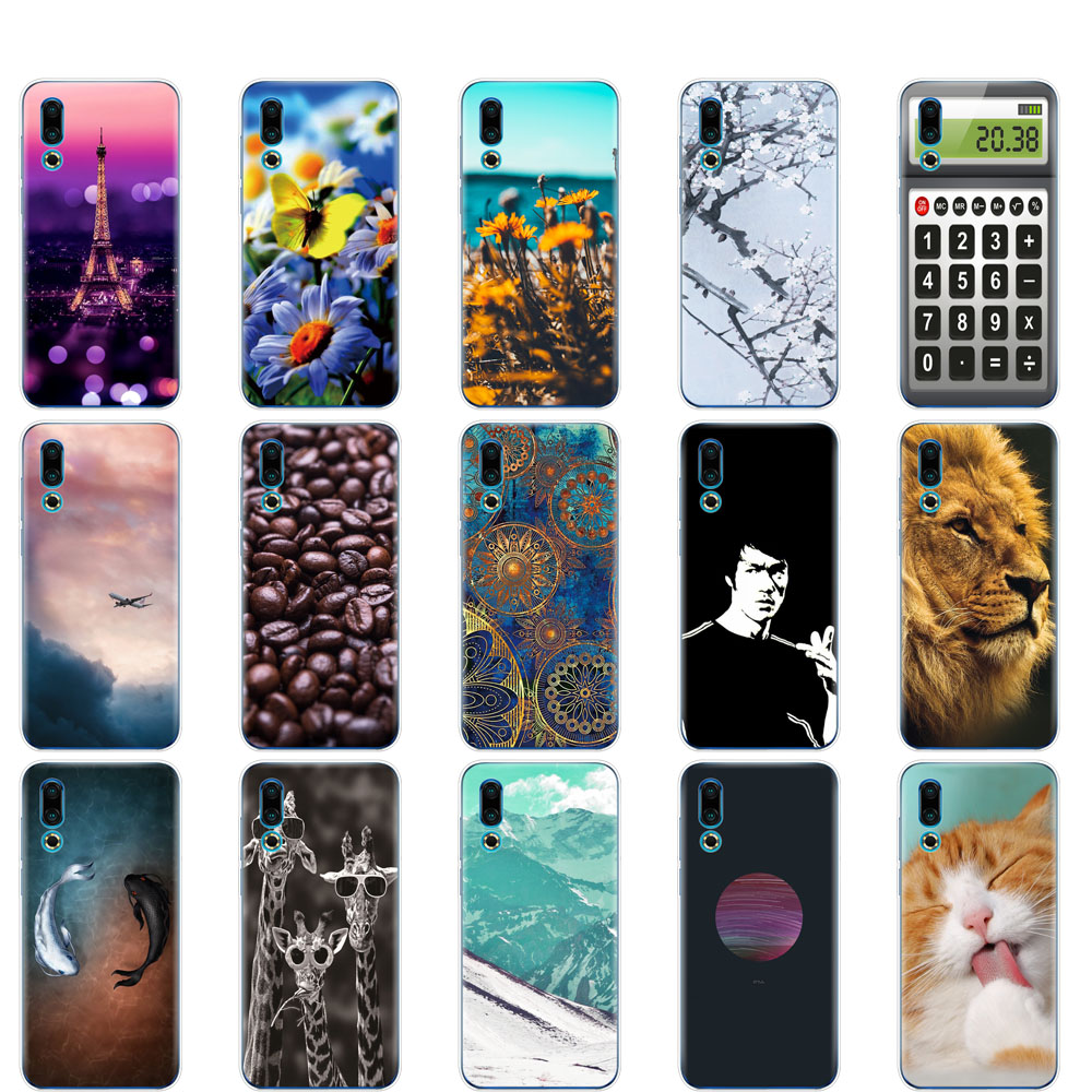 case For <font><b>Meizu</b></font> 16S Case 6.2'' Cartoon Soft TPU Silicone phone fundas For <font><b>Meizu</b></font> 16s <font><b>16</b></font> S Slim Coque full <font><b>360</b></font> Protective Shells image