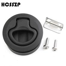 HCSSZP 2 inch Black nylon NO key Flush Boat Marine Latch Pull Latches Slam lift handle Deck Hatch Hardware