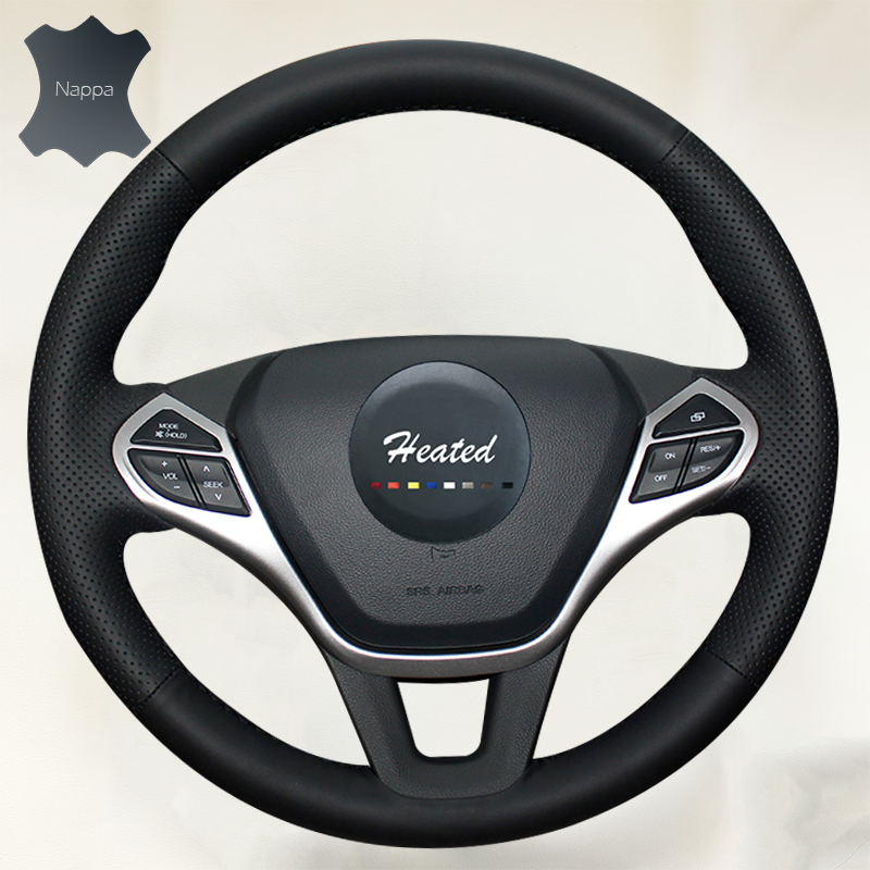Genuine Nappa Leather Auto wheel steering cover For CHERY ARRIZO 7 Braid on the steering wheel case