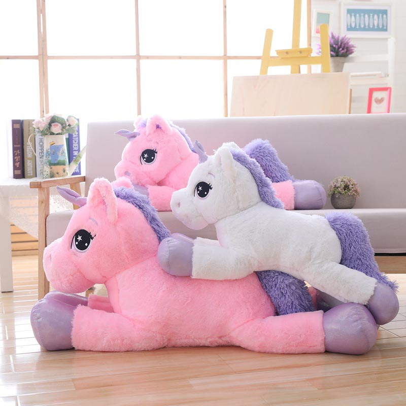 plush unicorn giant stuffed animal soft doll big size unicorn plush pillow toys for children birthday christmas gifts for women