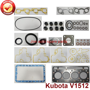 complete repair Overhaul engine full gasket set kit for Kubota engine: V1512