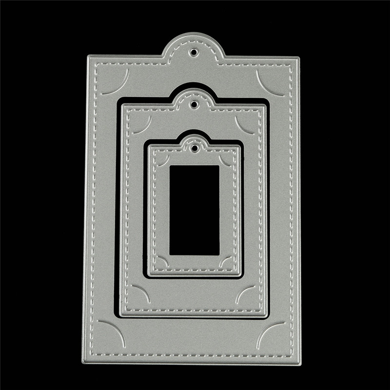 cutting dies for scrapbooking Circle frame christmas 2017 3d New Metal Stencil embossing folder For paper card Fashion