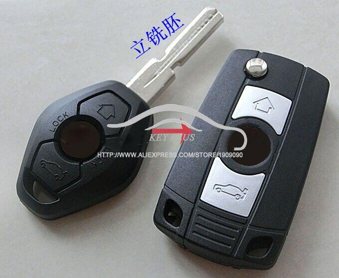 Modifié Remplacé Flip Pliante Voiture Shell Key Blank Pour BMW 3 5 7 SÉRIE Z3 Z4 E38 E39 E46 À Distance Cas Fob 4 Piste HU58 Lame