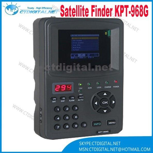 KPT-968G satellite finder DVBS MPEG2 signal 3.5Inch TFT LED Handheld Satellite Finder meter KPT 968G original dvb t satlink ws 6990 terrestrial finder 1 route dvb t modulator av hdmi ws 6990 satlink 6990 digital meter finder