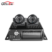 4CH 1080P SD Card Wifi GPS Vehicle Mobile Dvr For Security System +2Pcs Front Side View Night Vision Waterproof Camera