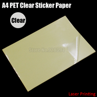 30pcs A4 Clear Transparent PET Film Adhesive Paper Sticker Paper Fit Laser Printer