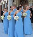 Lovely One Shoulder Bridesmaid Dresses Long Chiffon Elegant Women Plus Size Bridesmaid Dresses vestido de madrinha longo