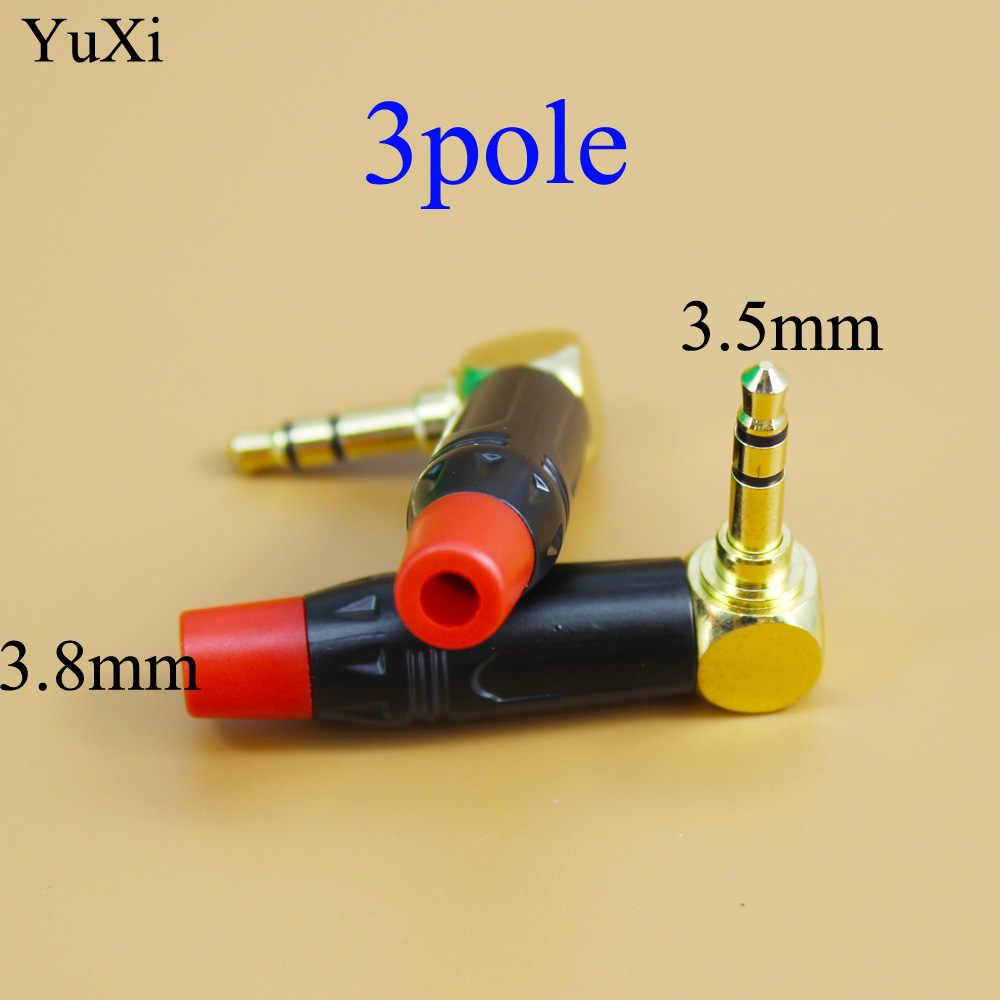YuXi 3.5 mm/2.5 Audio Jack Gold-plated 3Pole 4 pole Male Adapter Earphone Plug for DIY Stereo Headphone 3.5  2.5mm