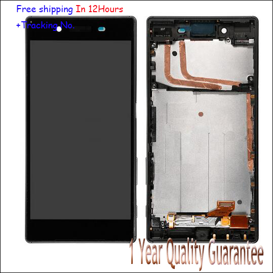 Original For sony Xperia Z5 E6653 E6603 E6633 LCD Digitizer Display+Touch Screen Panel frame Assembly free shipping Test ok