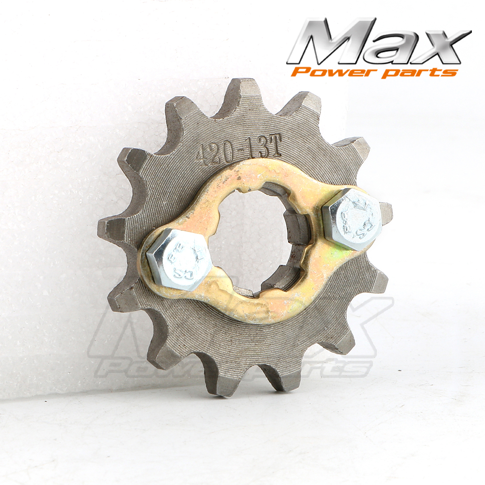Race-Guy 420 17mm 17 Tooth 17T Front Chain Sprocket Gear Gears for 50cc 70cc 90cc 110cc 125cc 140cc 150cc 160cc ATV Pit Dirt Trail Bike