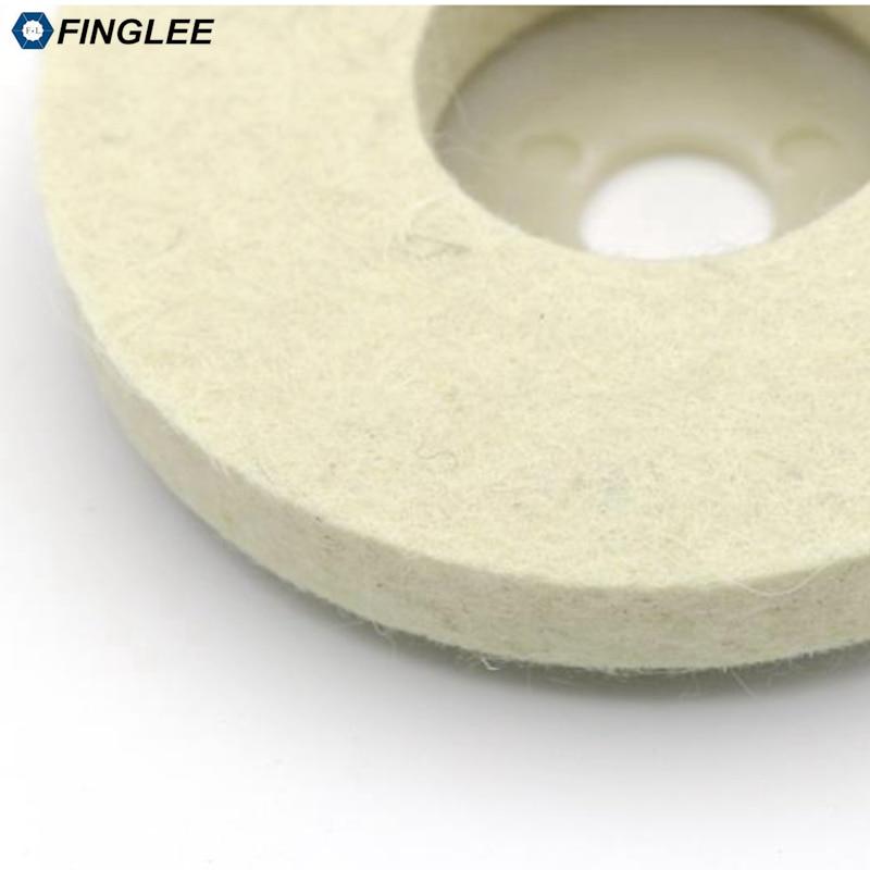 FINGLEE 10 pz 4 pollici lana feltro lucidatura ruota smerigliatrice - Utensili elettrici - Fotografia 6