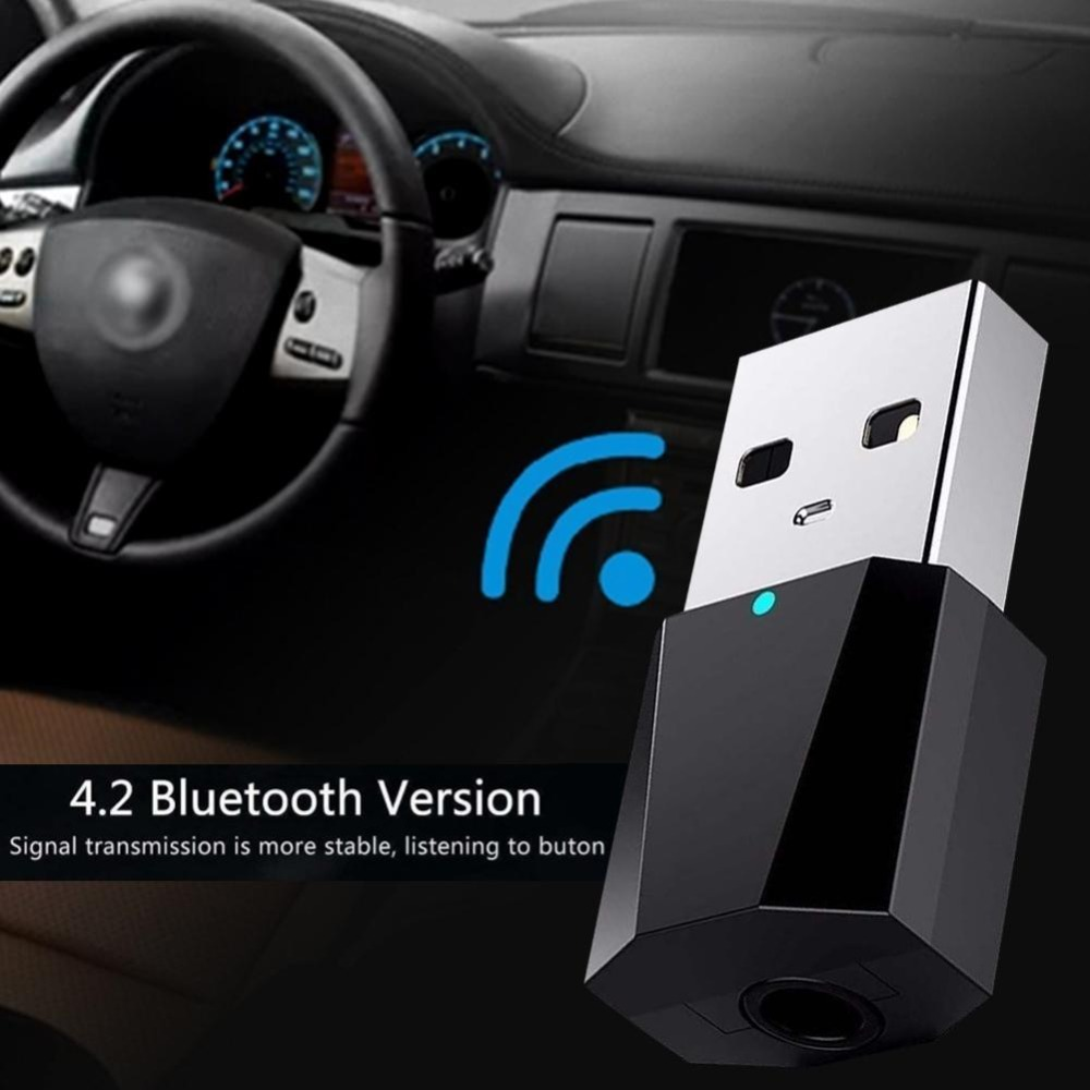 Wireless USB AUX Car Bluetooth Kit Autos Mini Receiver Adapter Music Speakers Audio Free Shipping