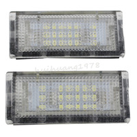 New 2x White 18 LED License Plate Light For BMW 4Doors E46 325i 328i White Lamp