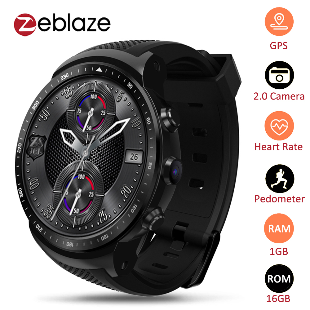 Zeblaze Thor PRO 3G GPS WIFI Smartwatch <font><b>Android</b></font> 5.1 MTK6580 Quad Core 1GB 16GB <font><b>2.0</b></font> MP Camera Heart Rate Monitor <font><b>Smart</b></font> <font><b>Watch</b></font> image