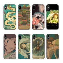 Cartoon Studio Ghibli Spirited Away Back Cover Soft Silicone Printed Covers For iPhone X XS max XR 6 6plus 7 7plus 8 8plus 5SSE