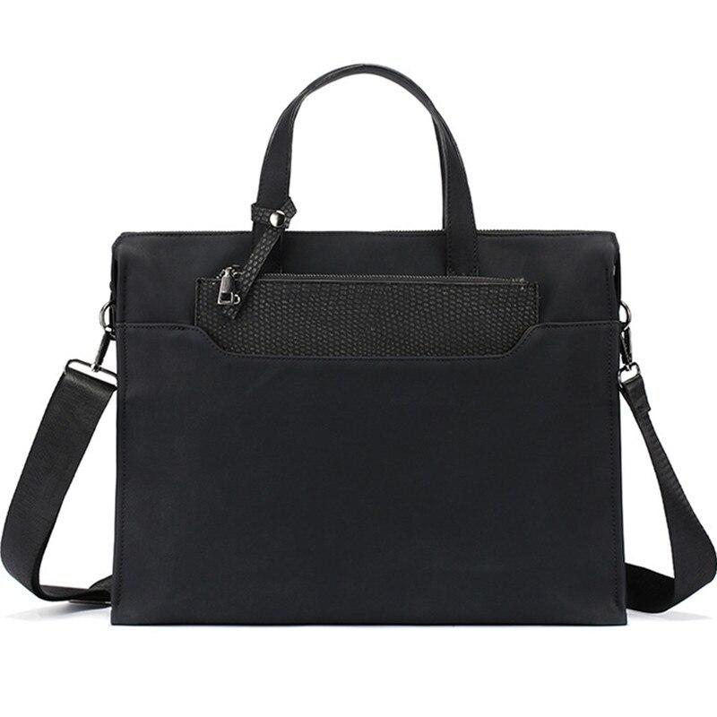 2018 Mode Für Männer Aktentasche Mit Kleine Handtasche Leder Handtasche Herren Umhängetasche Messenger 14 Zoll Taschen Portfolio