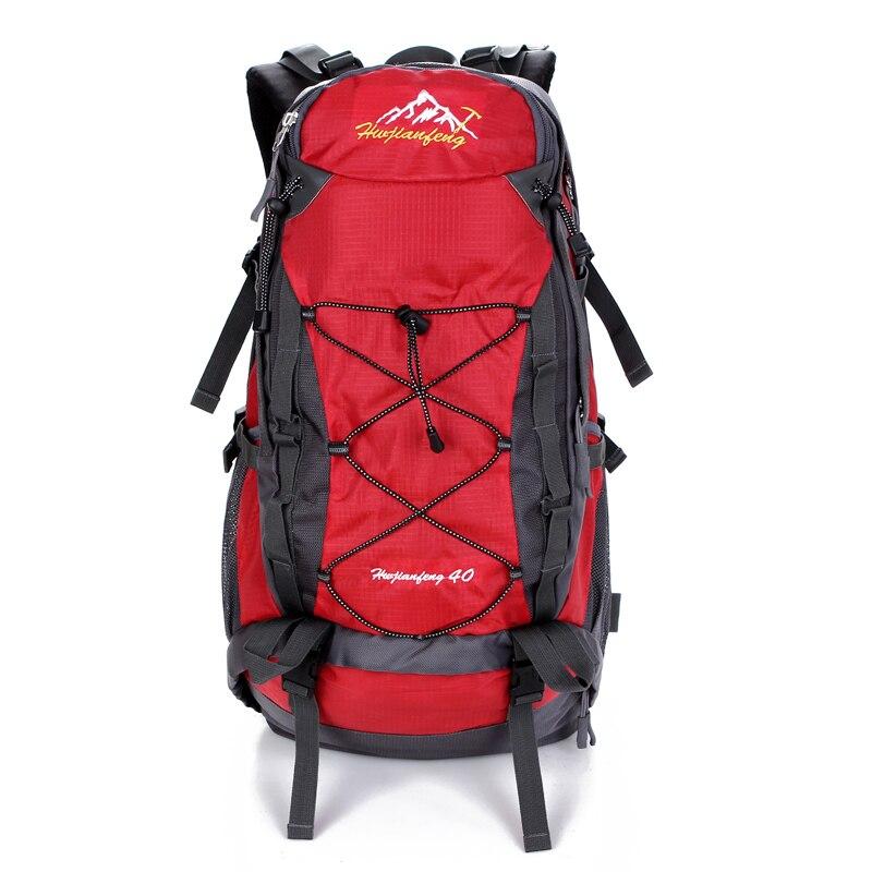 Nylon imperméable à l'eau en plein air sac 40 L en plein air portable voyage camping sac à dos tactique sac à dos de randonnée playking sac de sport