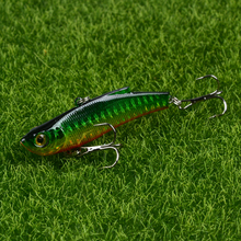 Купить с кэшбэком LINGYUE 1PCS Fishing Lures 7cm/18.4g Hard Baits Artificial Make Lifelike VIB bait 7 Colors Wobblers Fishing Tackle 6# Hooks