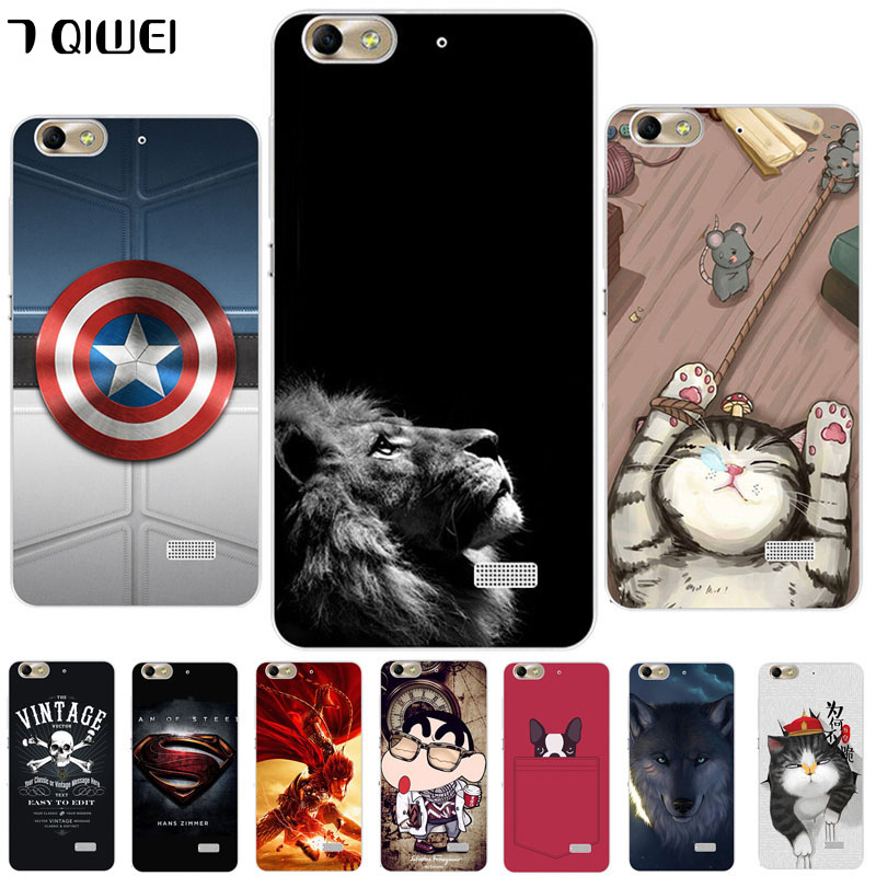 For Huawei G Play mini Case Soft Silicone Cute Wolf Cover Case For Huawei Honor 4C 4 C CHM-U01 CHC-U01 Fashion Protective Cases