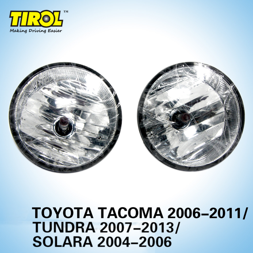Tirol T15479 a Lamp kit OEM Replacement for Toyota Tacoma Tundra Solara Pickup Truck Smoke Front Bumper Lamps Pair Free Shipping fit for 02 08 toyota solara camry corolla oe fog light smoke lamps wiring kit included usa domestic free shipping hot selling