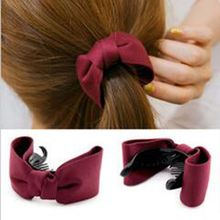 1pcs/fashion new cotton elegant bow brooch hair accessories ladies girls ponytail hairpin 2019 models hot style listing
