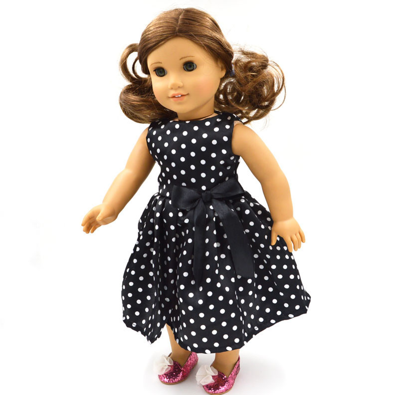 Hot Sales Doll Clothes 15 Style Skirt With Bowknot Patterns For 18 Inch American Doll&43 Cm Born Doll For Generation Girl`s Toy