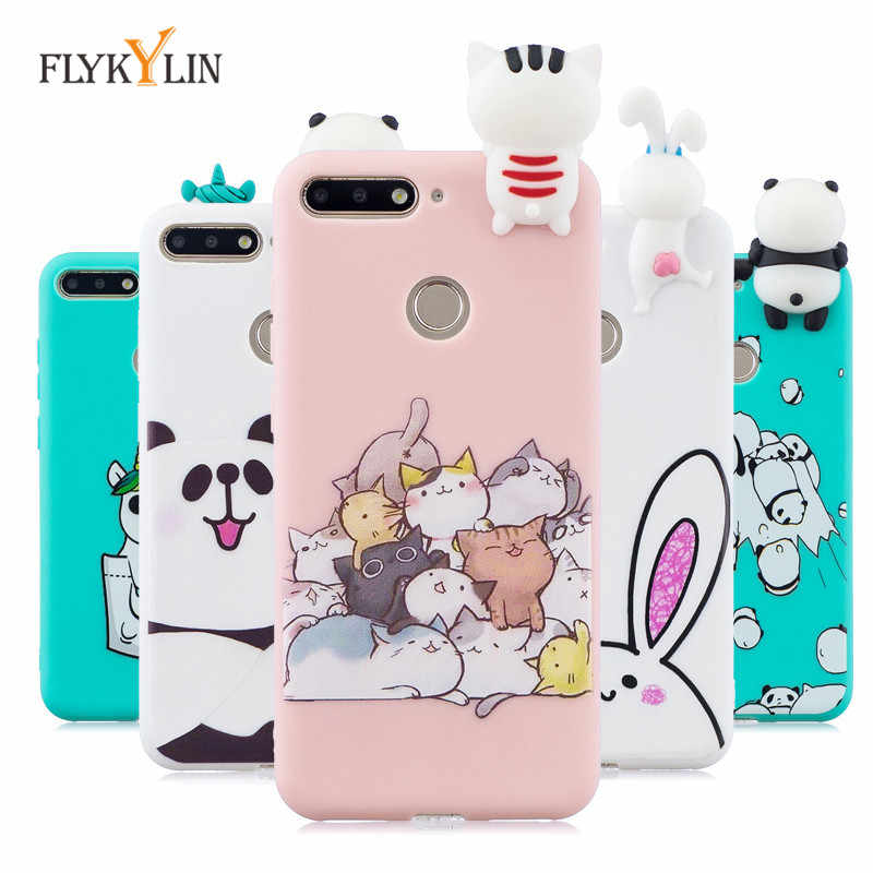 Soft TPU Case For Coque Huawei honor 7A Pro case 5.7 inch Cover For Huawei Y6 Prime 2018 3D DIY Dolls Toys Phone Case Capa Funda