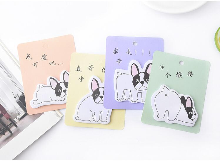 4pcs Naughty Dog Memo Pad N Times Sticky Notes Memo Boards Gift Stationery School Office Supply Escolar Papelaria
