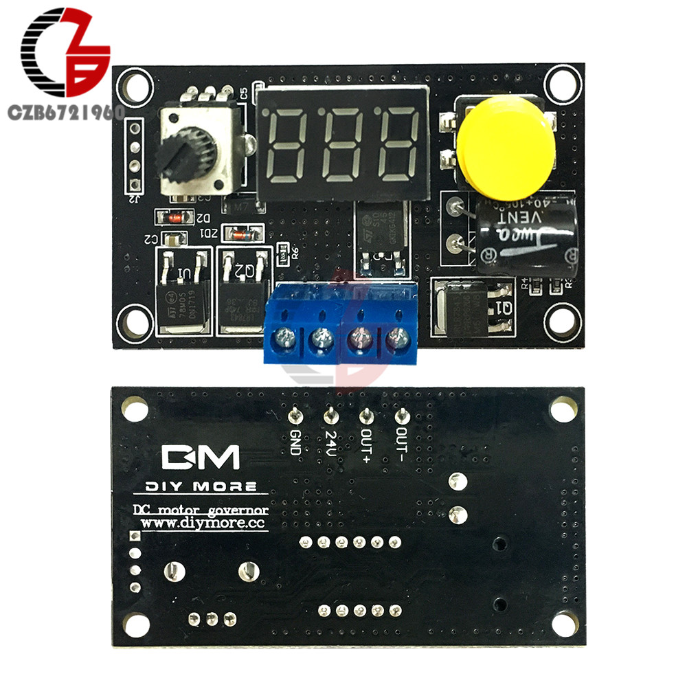 500W 20A DC Brush Motor PWM Speed Controller led Display Governor Driver 12v 24v