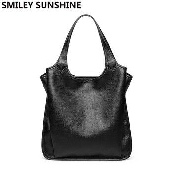 SMILEY SUNSHINE doux en cuir véritable dames sac femme sac à bandoulière femmes en cuir sacs à main de luxe fourre-tout grands sacs pour les femmes 2019
