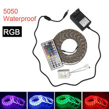 LED Strip Light RGB LED 5050 SMD Flexible Ribbon RGB Stripe 5M 300LED tape diode DC 12V+Remote Control+ Adapter EU US(China)