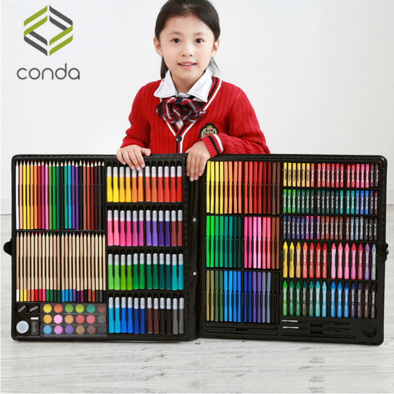 Children's Paintbrush Painting Set, School Supplies, Oil-Crayon Painting Tools, Kids Watercolor Pen, Art Stationery Gifts.