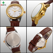 Reloj Mujer 2016 Fashion Couple Watches Men Women Quartz-Watch Luxury Leather Montre Femme XFCS Relogios Lover's Watches Gold