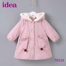 цены Baby girl clothes winter new girls jacket Korean version of the thick warm hooded coat jacket