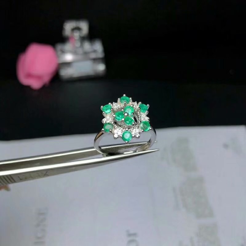 100% 925 sterling silver Natural green Emerald Rings fine Jewelry gift women wedding open wholesale new 3*3mm bj0303011agml 100% 925 sterling silver Natural green Emerald Rings fine Jewelry gift women wedding open wholesale new 3*3mm bj0303011agml